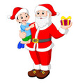 santa claus with kids vector image