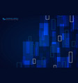 abstract blue technology square pattern design vector image