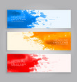 abstract grunge ink splash web banners template vector image vector image
