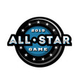 all star game template logo design vector image vector image