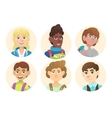 Avatars schoolboys with backpacks vector image vector image
