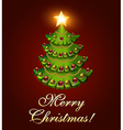 background postcard Christmas with a tree vector image vector image