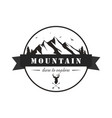 black and white mountain explorer adventure logo vector image