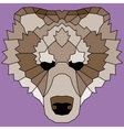 Brown low poly lined bear vector image vector image