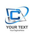 c letter tech logo hexagon shape letter c vector image vector image