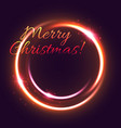 christmas light greeting card of new year holiday vector image vector image