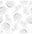 chrysanthemum outline flower on white background vector image vector image