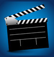 clapperboard clapper claquete background vector image