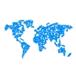 Computer graphic World map vector image