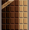 corrugated texture of chocolate three different vector image vector image