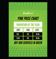 creative green price table promo flyerposter vector image vector image