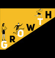 creative word concept growth and people doing vector image vector image