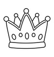 crown icon cartoon black and white vector image