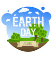 earth day card with trees vector image