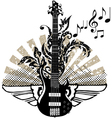 Electric guitar design vector | Price: 1 Credit (USD $1)