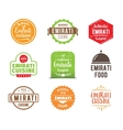 Emirati cuisine label vector image vector image