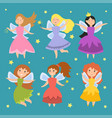 fairy princess adorable characters imagination vector image vector image