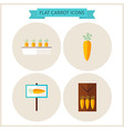 Flat Carrot Vegetable Website Icons Set vector image