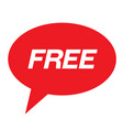 free stamp on white vector image vector image