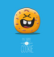 funny hand drawn homemade chocolate cookie vector image