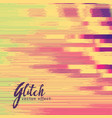 glitch effect in retro colors vector image vector image