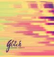 glitch effect in retro colors