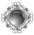 Glossy Round Frame vector image vector image