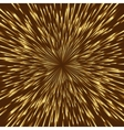 golden fireworks vector image vector image