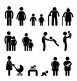 happy family icons happy family icons sign symbols vector image