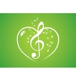 heart rom musical notes vector image vector image
