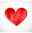 Heart shape as Valentines Day symbol vector image vector image