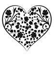 heart with vintage flowers vector image vector image