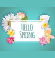 hello spring banner greetings design backgroun vector image