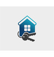 house and key selling and renting vector image vector image