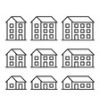 houses icons set on white background vector image vector image
