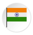 Indian flag icon circle vector image