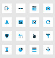 interface icons colored set with protect list vector image