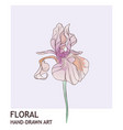 iris floral creative hand drawn watercolor vector image vector image