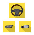 isolated object auto and part logo collection vector image