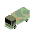 isometric military truck vector image vector image