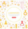 laboratory landing page template pharmacy vector image