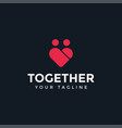 love and family people together logo design vector image vector image