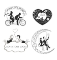 Love story Logo Symbol For Your Design vector image
