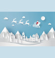merry christmas and happy new year santa vector image vector image