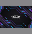 modern gaming e-sport twitch banner currently vector image vector image