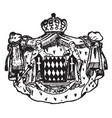 monaco coat of arms is a king and queen coat vector image vector image