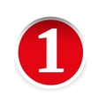 Number one red label vector image vector image