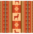 ornamental ethnic pattern with lamas vector image vector image