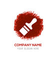 paint brush icon - red watercolor circle splash vector image