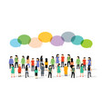 people group person community business flat social vector image